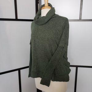 Postmark Anthropologie ruffle turtleneck sweater